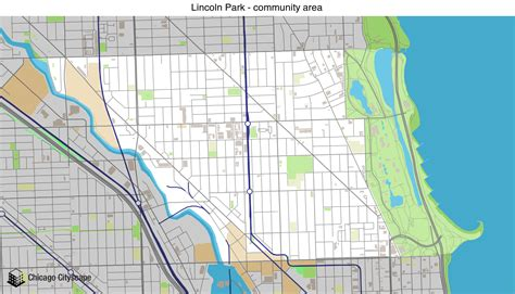 lincoln park chicago map map of building projects properties and businesses in