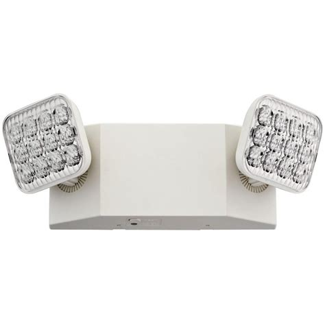 Lithonia Lighting 2 Light 12 in. Wall Mount White LED Emergency Fixture Unit with Adjustable
