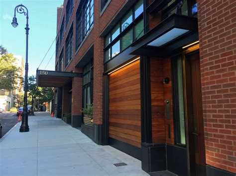 wood garage doors for townhouses at 150 charles