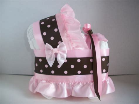 pink and brown polka dot dots bassinet baby shower