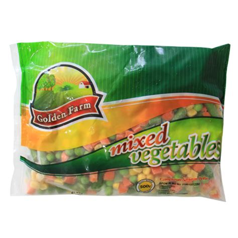 golden farm mixed vegetables 500 gr sukanda djaya