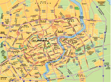 shanghai map map of shanghai tourist travel map travelquaz