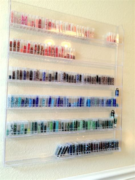 seed bead storage containers craft room seed bead storage idea nail rack and