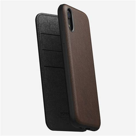 nomad rugged folio iphone xr leather case gadgetsin
