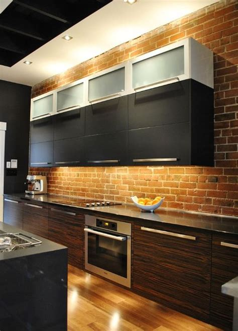kitchen with brick wall kitchen brick backsplashes for warm and inviting cooking