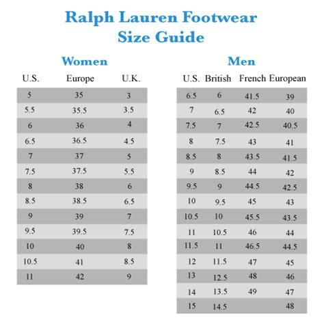 shoe size chart zappos description