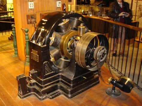 Tesla Electromagnetic Motor Tesla Is Walking His Induction Motor Which Is