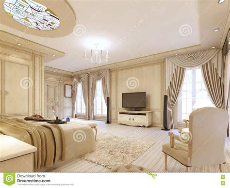 da letto lussuosa da letto lussuosa nei colori pastelli in uno stile