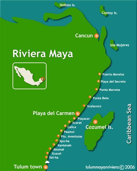riviera map mexico map riviera