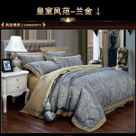 blue and gold comforter set popular blue gold comforter buy cheap blue gold comforter