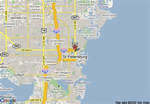 where is st petersburg florida on a map map of courtyard by marriott st petersburg downtown