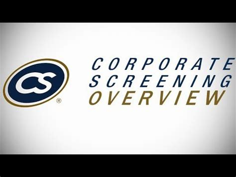 Corporate Screening Background Check Background Check Services Corporate Screening Services Overview