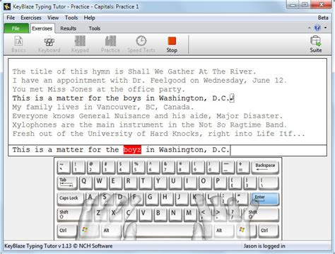 tutorial on keyboard typing keyblaze typing tutor enhance typing skills pc nch