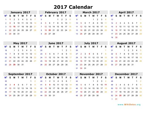 printable 2017 monthly calendar with holidays 2017 calendar with