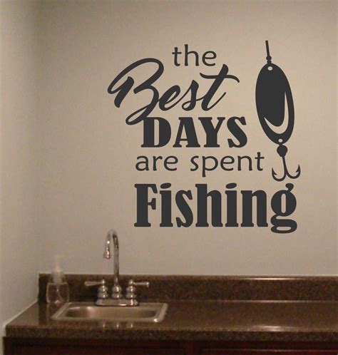 fishing quotes best days spent fishing wall quotes sports decal
