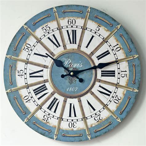 home decor mute quartz wall clock retro roman numerals europe roman retro wall clock false lacing rope printing