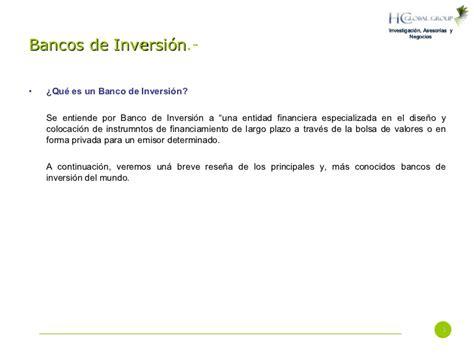 bancos inversion bancos de inversi 243 n historia y actualidad principales bancos
