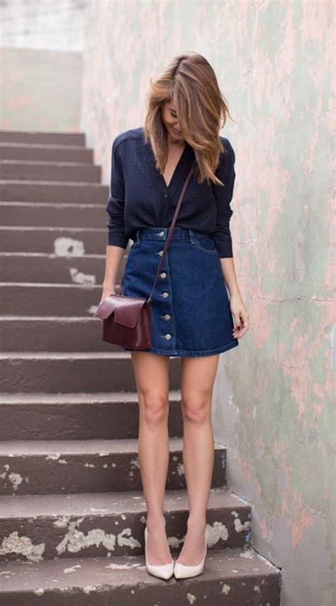 imagenes modelos de falda jean 191 c 243 mo usar una falda de jean en verano casual chic