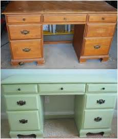 diy painted thrift store desk centsational