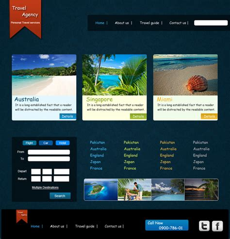 tutorial website template free download creating a travel agency web layout in photoshop