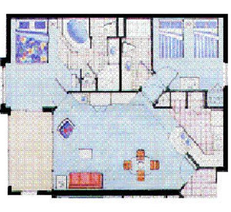 Summer Bay Resort Orlando Floor Plan | summer bay 2 bed condo floorplan
