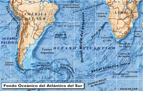 imagenes satelitales oceano atlantico mapas de escolar com mapa de oc 233 ano atl 225 ntico del sur