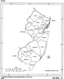 maps of new jersey black and white outline map united