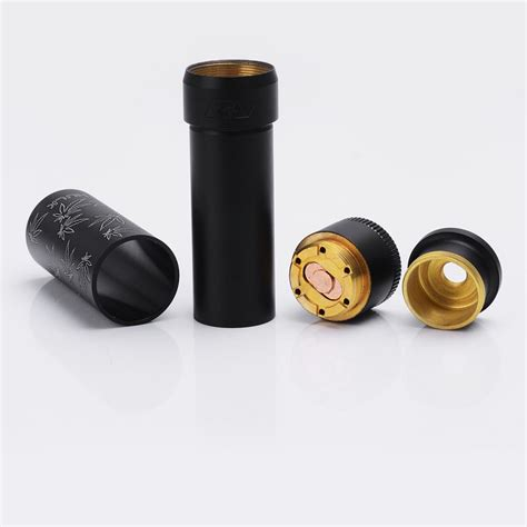 black gray and brass master leaf pattern able style black grey mechanical mod battle