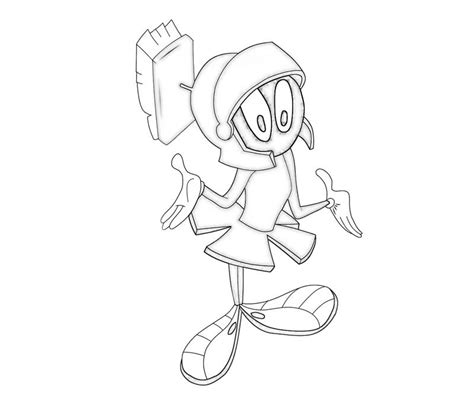 marvin the martian free colouring pages