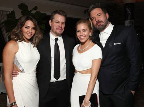 luciana barroso matt damon sienna miller ben affleck  golden globes  party pics