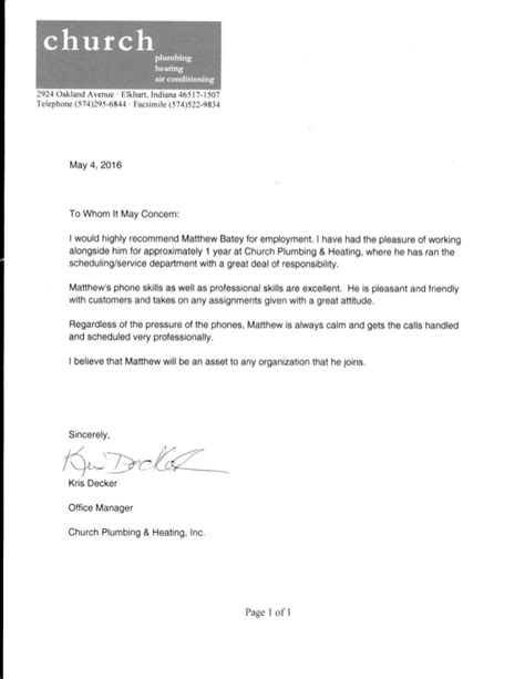 Immigration Reference Letter From Church Church Letter Of Recommendation Decker