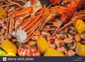 cajun seafood low country boil with corn shrimp and crab