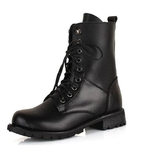 black combat boots cheap yu boots
