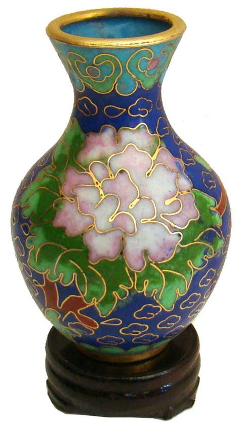 miniature cloisonne vase wealth flowers