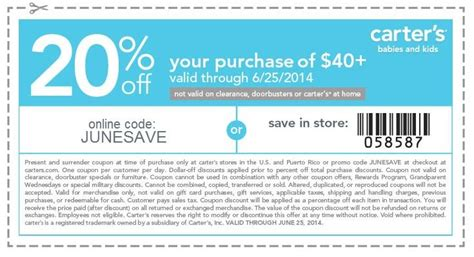 printable coupons for carters outlet 17 best images about carters coupons on pinterest beauty