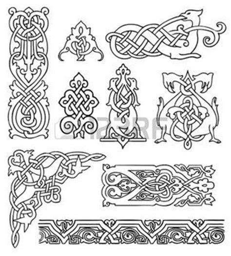 Muster Motive Vorlagen Keltische Muster Antikes Alte Russische Ornamente Vektor Satz Random Stuff