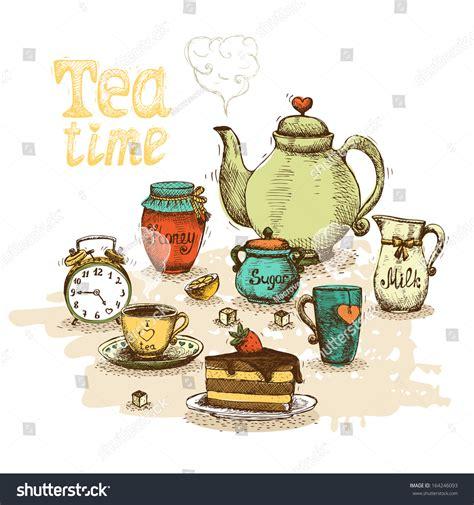 a for all time tea set tea time still set vector stock vector 164246093