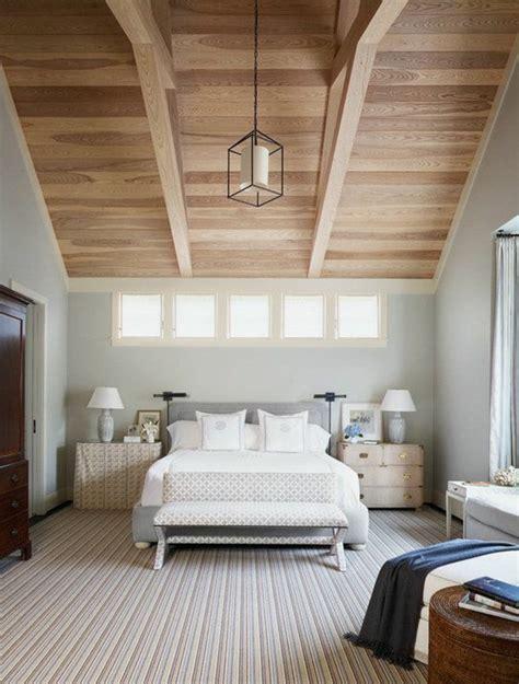 idées déco chambre à coucher chambre avec mur en bois