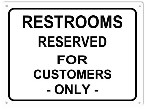 bathroom for customers only sign restrooms reserved for customers only sign reproduction vintage signs