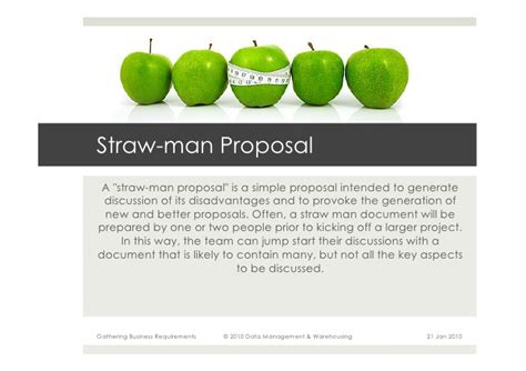 strawman template gathering business requirements for data warehouses