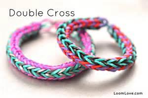 how to make a cross rainbow loom bracelet