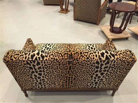 sofa leopard mid century leopard print sofa for sale at 1stdibs
