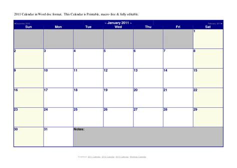 Microsoft Word 2014 Monthly Calendar Template by Word 2014 Calendar Template