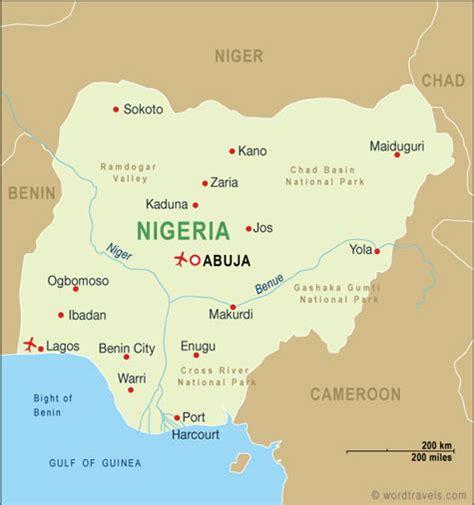 nigeria on world map uniglobe travel international travel planning