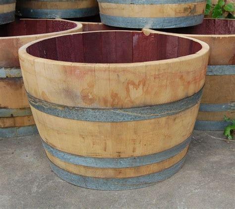 napa valley half oak wine barrel used garden planter