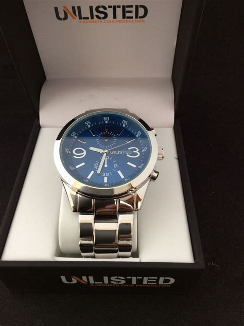 Unlisted Search Kenneth Cole Unlisted Mens Stainless Steel Ul 4676 Ebay