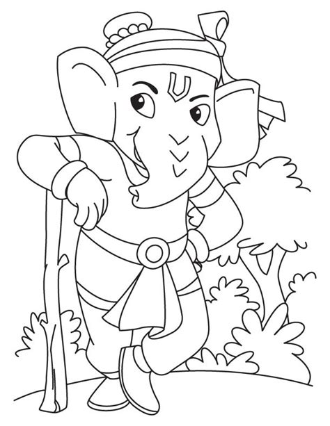 Ganpati Coloring Pages lord ganesha coloring pages sketch coloring page
