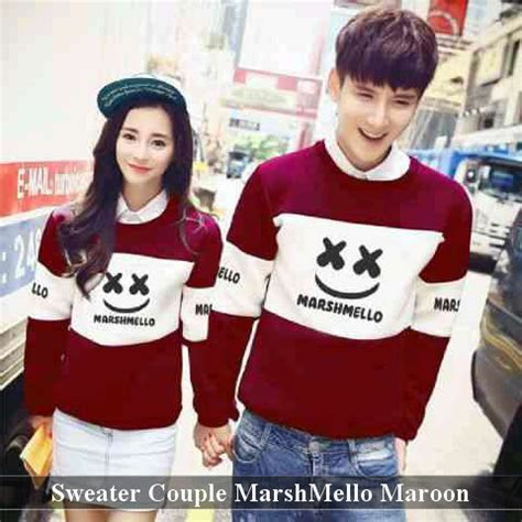 Sweater Marshmello Hitam Sweater Mello Murah Sweater Marshmello Maroon Harga 120rb Resler 100rb
