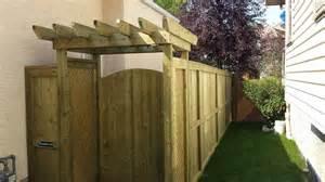 Pergola Over Gate by Calgary Decks And Fences Ab Custom Contractor Dream