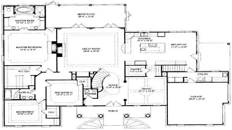 7 bedroom house plans 7 bedroom house floor plans house design plans